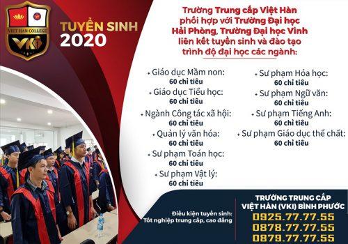 Trường Trung cấp Việt Hàn liên kết đào tạo trình độ Đại học